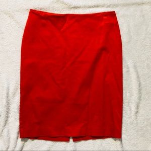 New York & Co. Bright Orange Pencil Skirt Size 4